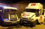 CHP seçim minibüsü kaza yaptı: 7 yaralı