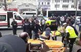 İstanbul'da özel halk otobüsü kaza yaptı!