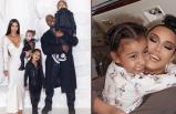 Kim Kardashian'ın 5 yaşındaki kızı North yine makyajlı