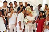 Ünlü çift, Maldivler'de nikah tazeledi