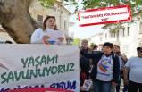 Yenifoça'da elektrik kesintisi protestosu!