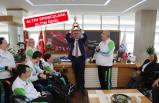 Başkan Arda'ya ilk kupa Boccia Takımı'ndan