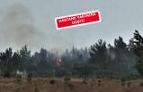 İzmir'de yıldırım düşmesi sonrası yangın
