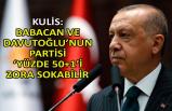 Kulis: Babacan ve Davutoğlu'nun partisi 'yüzde 50+1'i zora sokabilir