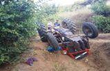 Manisa'da devrilen traktör can aldı