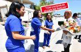 Başkan Soyer İZBETON ve İZELMAN işçileriyle bayramlaştı