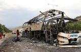Yine yolcu otobüsü yandı: Yolcular uyardı