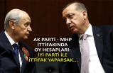 AK Parti - MHP ittifakında oy hesapları: İYİ Parti ile ittifak yaparsak...