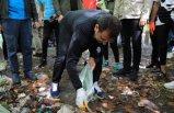 İBB Başkanı Ekrem İmamoğlu çöp topladı