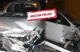 İzmir'de kaza: Önce refüje, sonra bariyerlere çarptı
