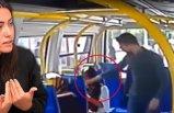 Şortlu kıza minibüste saldırdı