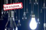 28 Ekim Pazartesi günü İzmir'de elektrik kesintileri