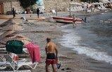Bodrum'da sağanak sonrası deniz keyfi