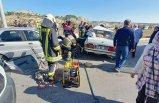 Çarpışan araçlar hurdaya döndü: 9 yaralı!