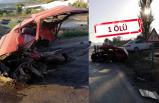 Feci kaza: Otomobiller çarpıştı
