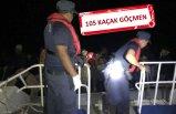Kaçak göçmenler havadan tespit edildi