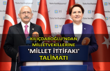 Kılıçdaroğlu'ndan milletvekillerine 'Millet İttifakı' talimatı