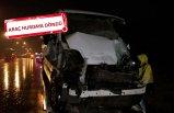 TIR'a arkadan çarpan minibüsün sürücüsü yaralandı