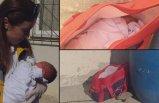 Yeni doğan bebeğini, çöp kovasının yanına bıraktı