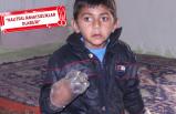 Isırmasın diye elleri pet şişeyle kapatılan Yusuf tedaviye alındı