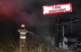 Servis bakım alanında yangın