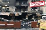Bornova'da 7 katlı bina alevler içinde kaldı