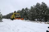 7 gün 24 saat kar mesaisindeler