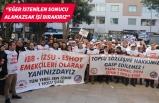 """Gaziemir Belediyesi memurlarından """"toplu sözleşme"""" eylemi"""