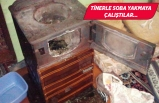 İzmir'de soba tutuşturmak isteyen iki kardeş yaralandı