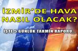 İzmir'de yeni haftada hava durumu nasıl olacak?