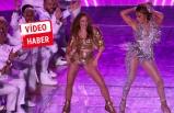 Jennifer Lopez ve Shakira'dan muhteşem dans şov!