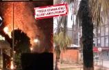 Konak'ta ağaçları yaktılar!