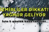 İşte gün gün İzmir hava durumu