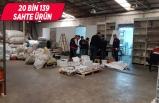 İzmir'de 20 bin sahte ürün ele geçirildi