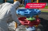 Parklardaki dezenfekte çalışmaları artırıldı