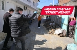 Başkan Kılıç fırını olmayan köylerde kapı kapı ekmek astı