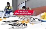 Bornova'da maskenin ardından siperlik üretimi de başladı