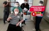 İzmir'de Kovid-19'u yenen hastalar hastaneden ayrıldı