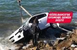 İzmir'de denize düşen otomobilde bulunan 3 kişi yaralandı