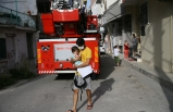 İzmir'de evde çıkan yangın hasara neden oldu