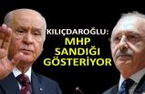 Kılıçdaroğlu: MHP sandığı gösteriyor
