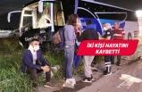 Manisa'da otomobil karşı şeride geçti