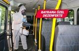 Buca'nın dolmuşlarında koronavirüse karşı ilaçlama
