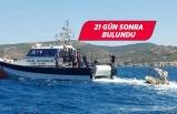 Foça'da batan tekne 33 metre derinlikte bulundu