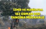 İzmir ve Manisa'da 183 adetkırsal yangına müdahale edildi