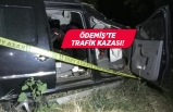 Ödemiş'te trafik kazası! Otomobil şarampole devrildi