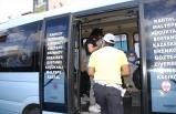 İstanbul'da, minibüslerde ayakta yolcu denetimi