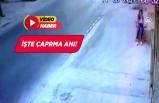 İzmir'de kaldırımda oturan kıza otomobil çarptı!