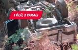 İzmir'de kamyonet uçuruma devrildi!