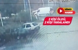 Menderes'te minibüs ile otomobil çarpıştı!
